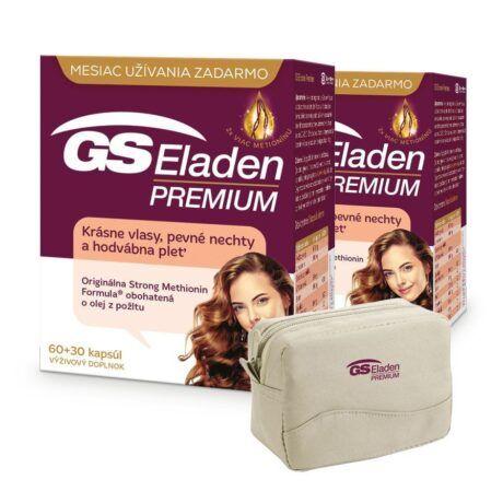 GS Eladen PREMIUM, 2 x 90 kapsúl (180ks) + kozmetická taštička