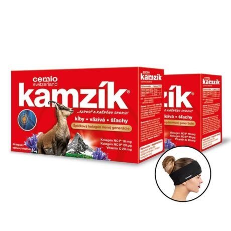 Cemio Kamzík, 2 x 60 kapsúl (120ks) + darček: čierna čelenka