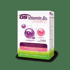 GS Vitamín D3 + Vitamín K2, 30 tabliet