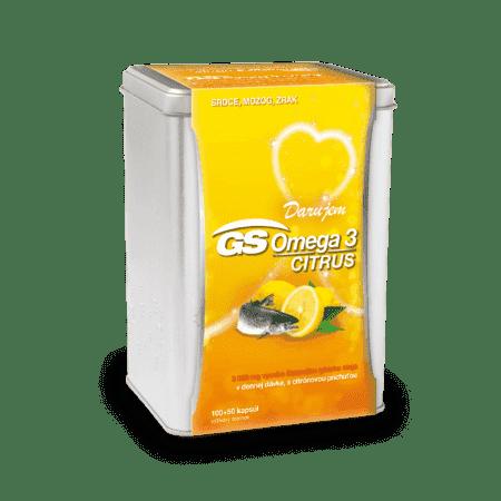 GS Omega 3 CITRUS, 100 + 50 kapsúl (150 ks) - darček 2019