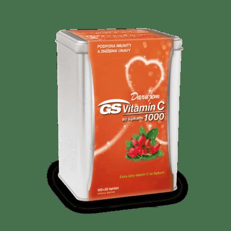 GS Vitamín C 1000 so šípkami, 100 + 20 tabliet (120 ks) - darček 2019