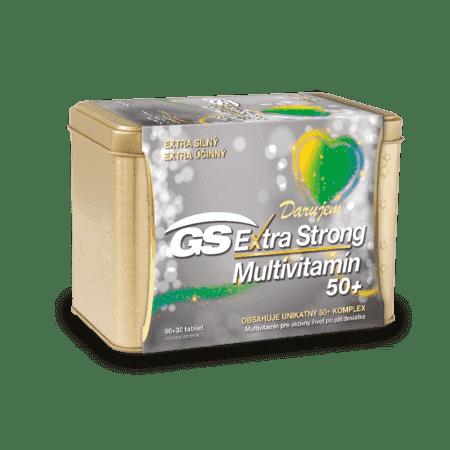GS Extra Strong Multivitamín 50+, 90+30 tabliet (120 ks) - darček 2019
