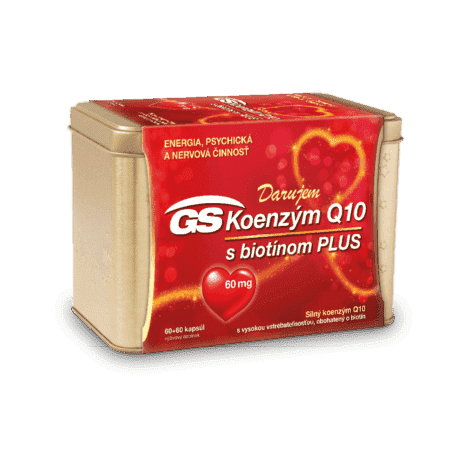 GS Koenzým Q10 60mg Plus, 60 + 60 kapsúl (120 ks) - darček 2019