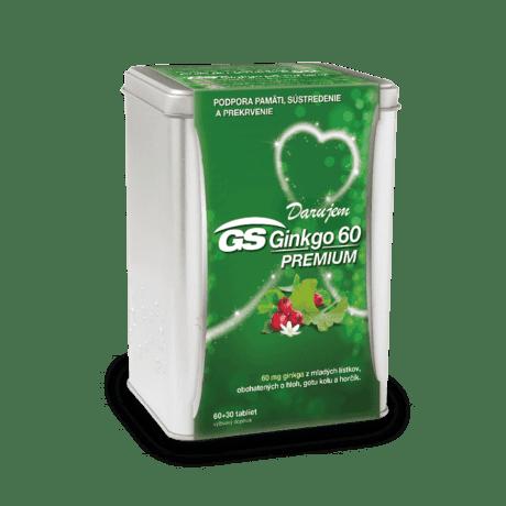 GS Ginkgo 60 PREMIUM, 60 + 30 tabliet ( 90 ks ) - darček 2019