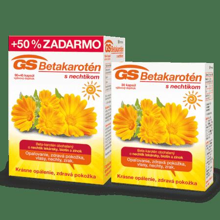 GS Betakarotén s nechtíkom, 135 kapsúl + GS Betakarotén s nechtíkom, 30 kapsúl