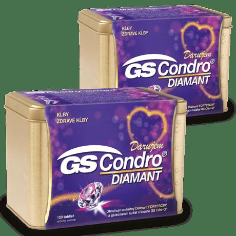 GS Condro Diamant, 2 x 120 tabliet (240 ks) - darček 2019