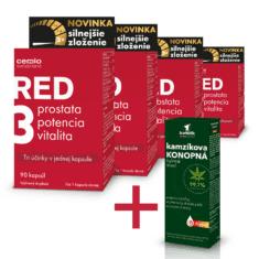 Cemio RED3® silnejšie zloženie, 4 x 90 kapsúl