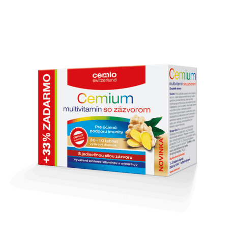 Cemio Cemium multivitamín so zázvorom, 30 + 10 tabliet