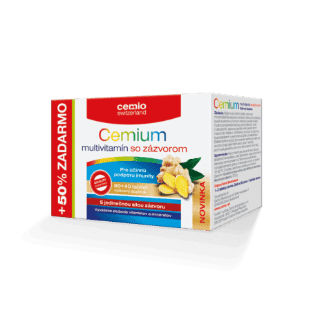Cemio Cemium multivitamín so zázvorom, 80 + 40 tabliet