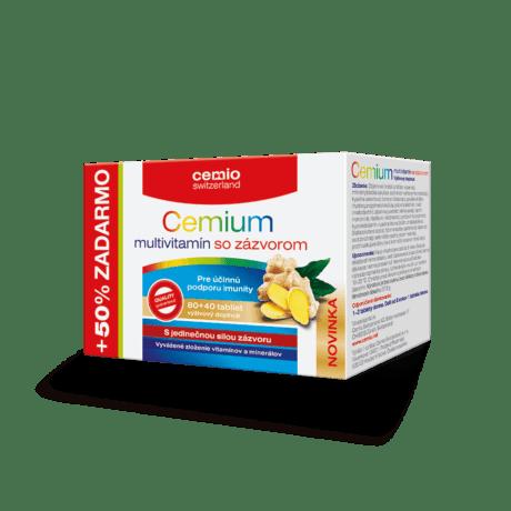 Cemio Cemium multivitamín so zázvorom, 80 + 40 tabliet