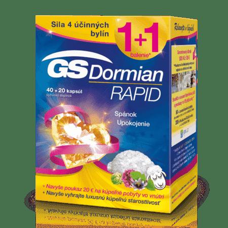 GS Dormian Rapid, 40 + 20 kapsúl (60 ks) darček 2018