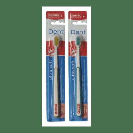 Cemio Dent, zubná kefka, ULTRA SOFT, 1 + 1 zdarma