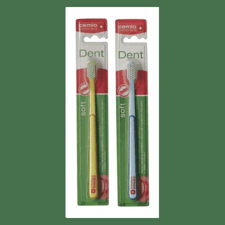 Cemio Dent, zubná kefka, SOFT, 1 + 1 zdarma