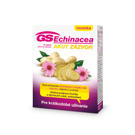 GS Echinacea Akut zázvor, 15 tabliet