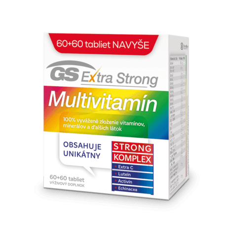 GS Extra Strong Multivitamín, 60 + 60 tabliet