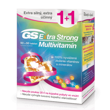 GS Extra Strong Multivitamín, 50+50 tabliet (100 ks) darček 2018