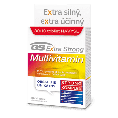 GS Extra Strong Multivitamín, 30 + 10 tabliet