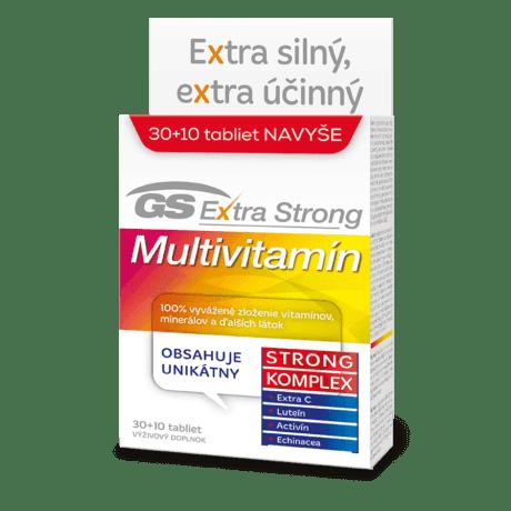 GS Extra Strong Multivitamín, 30 + 10 tabliet