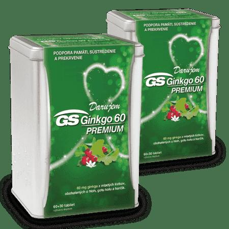 GS Ginkgo 60 PREMIUM, 2 x 90 tabliet ( 180 ks ) - darček 2019
