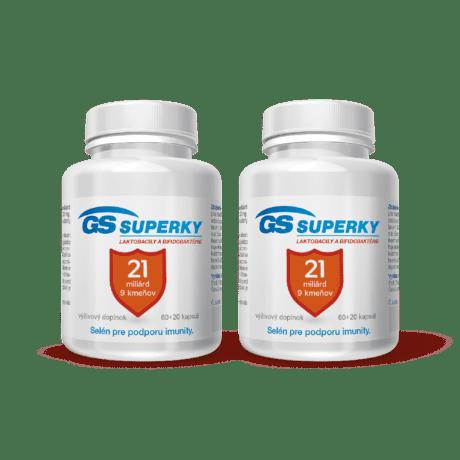 GS Superky Laktobacily a bifidobaktérie, 160 kapsúl