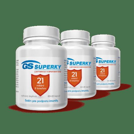 GS Superky Laktobacily a bifidobaktérie, 240 kapsúl