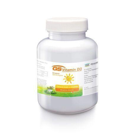 GS Vitamín D3 (5000 IU), 60 kapsúl