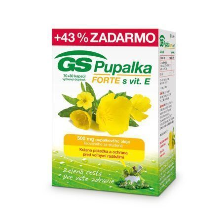 GS Pupalka FORTE s vitamínom E, 70 + 30 kapsúl