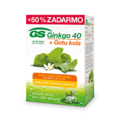 GS Ginkgo 40 + Gotu kola, 80 + 40 tabliet