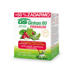 GS Ginkgo 60 PREMIUM, 40 + 20 tabliet