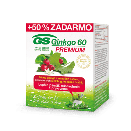 GS Ginkgo 60 PREMIUM, 40 +20 tabliet