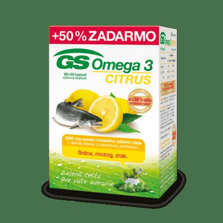 GS Omega 3 CITRUS, 60 + 30 kapsúl