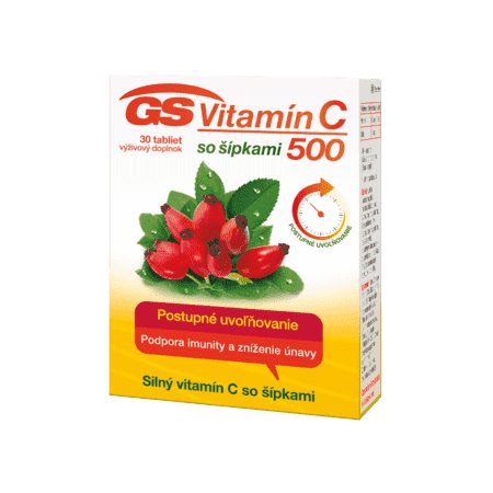 GS Vitamín C 500 so šípkami, 30 tabliet