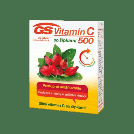 GS Vitamín C 500 so šípkami, 30 tabliet