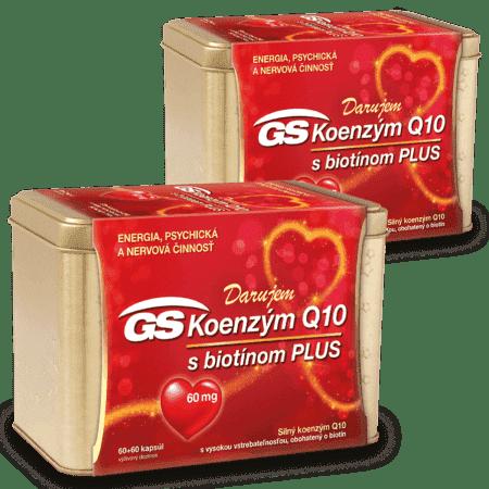 GS Koenzým Q10 60mg Plus, 2 x 120 kapsúl ( 240 ks ) - darček 2019
