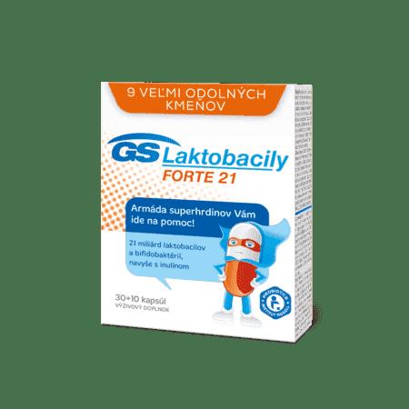 GS Laktobacily FORTE 21, 30 + 10 kapsúl