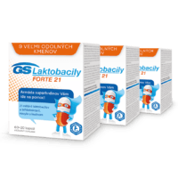 GS Laktobacily FORTE 21, 3 x 80 kapsúl