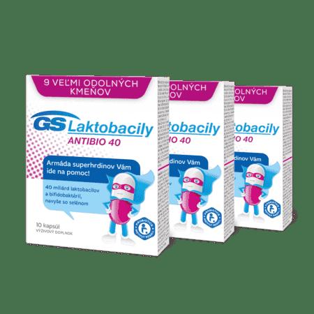 GS Laktobacily Antibio 40, 3 x 10 kapsúl