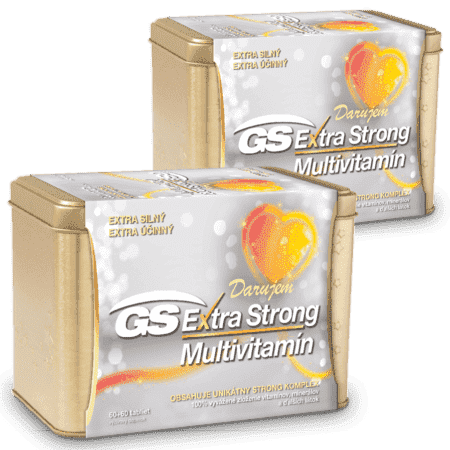 GS Extra Strong Multivitamín, 2 x 120 tabliet (240 ks) - darček 2019