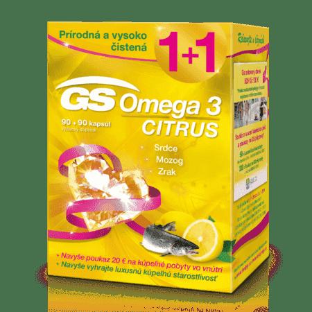 GS Omega 3 Citrus, 90+90 kapsúl (180 ks) darček 2018
