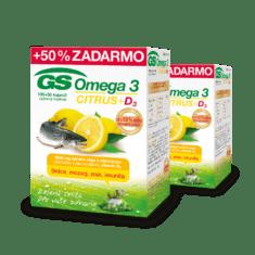 GS Omega 3 CITRUS + D3, 2 x 150 kapsúl