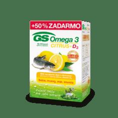 GS Omega 3 CITRUS + D3, 60 + 30 kapsúl