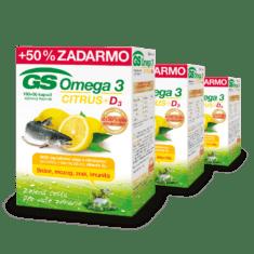 GS Omega 3 CITRUS + D3, 3 x 150 kapsúl