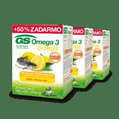 GS Omega 3 CITRUS, 3 x 150 kapsúl