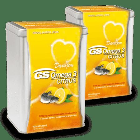 GS Omega 3 CITRUS, 2 x 150 kapsúl ( 300 ks ) - darček 2019