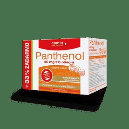 Cemio Panthenol 40 mg s biotínom, 60 + 20 kapsúl