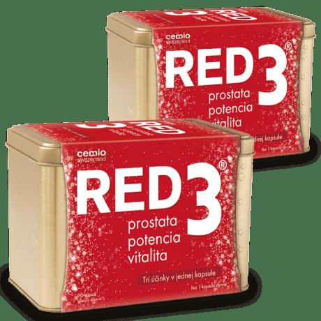 Cemio RED3, 2 x 90 kapsúl (180 ks) - darček 2019