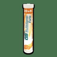 GS Multivitamín šumivý FORTE pomaranč, 20 + 5 tabliet
