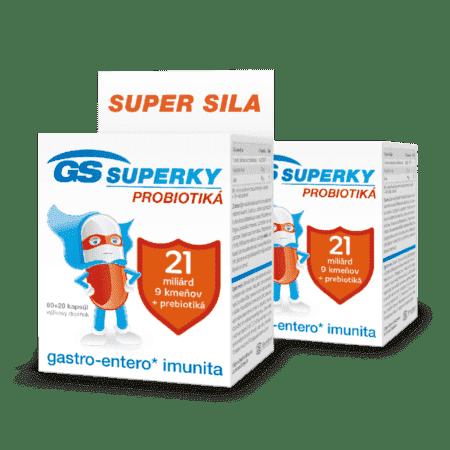 GS SUPERKY probiotiká, 2 x 80 kapsúl