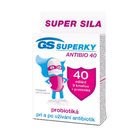 GS SUPERKY ANTIBIO 40, 10 kapsúl