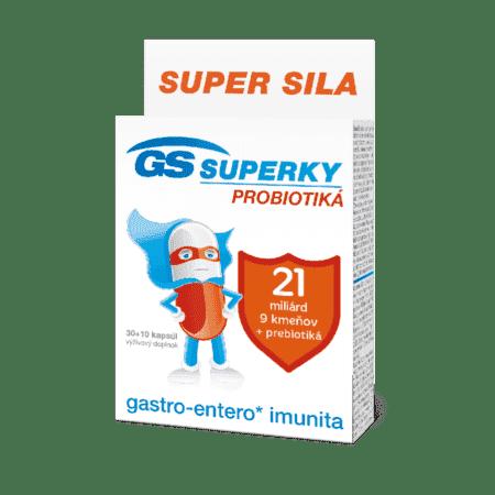 GS SUPERKY probiotiká, 30 + 10 kapsúl